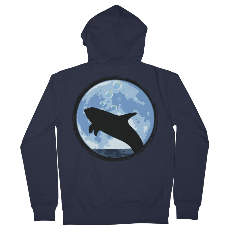 Dolphin Moon Women's French Terry Zip-Up Hoody by Kamonkey's Artist Shop