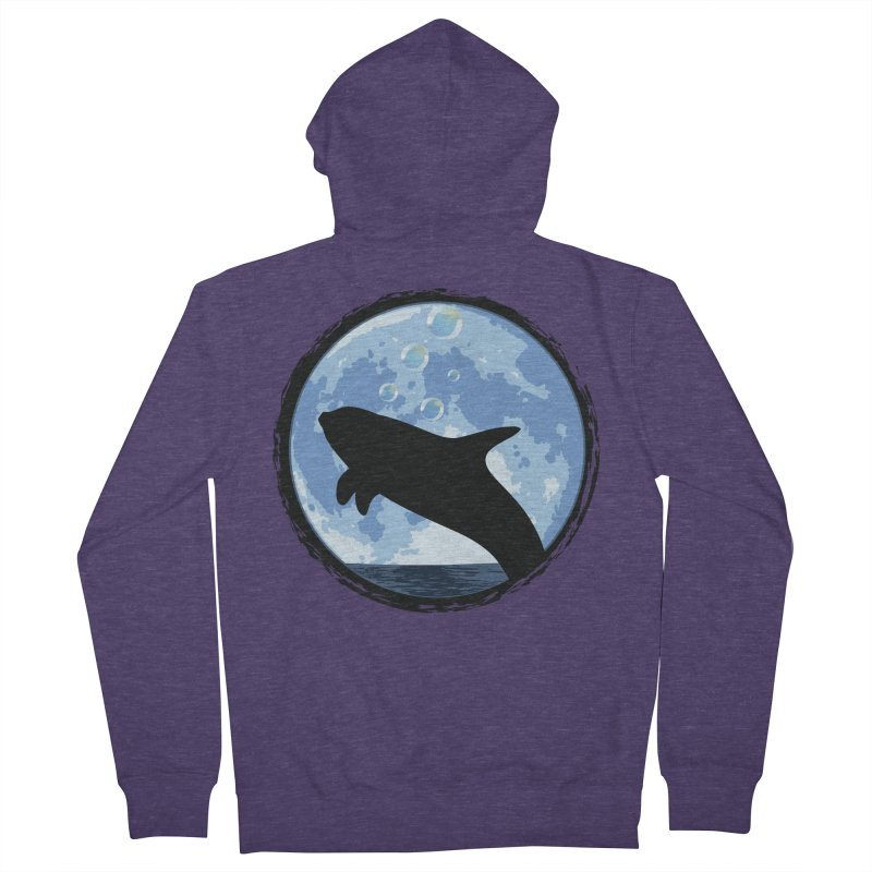 Dolphin Moon Men's French Terry Zip-Up Hoody by Kamonkey's Artist Shop