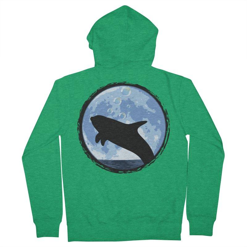Dolphin Moon Men's Zip-Up Hoody by Kamonkey's Artist Shop
