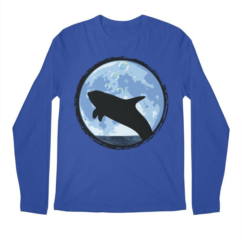 Dolphin Moon Men's Longsleeve T-Shirt by Kamonkey's Artist Shop