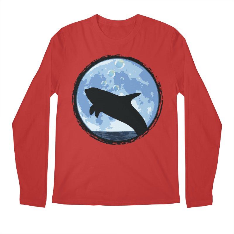 Dolphin Moon Men's Regular Longsleeve T-Shirt by Kamonkey's Artist Shop