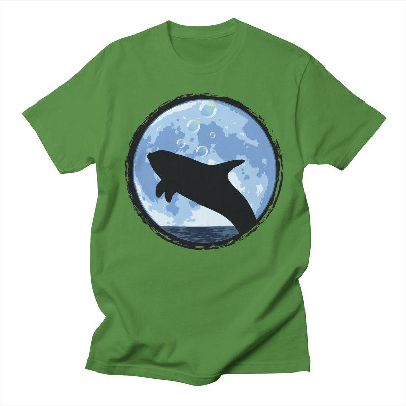 Dolphin Moon Men's T-shirt by Kamonkey's Artist Shop