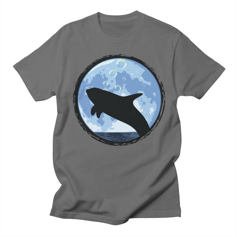 Dolphin Moon Men's Regular T-Shirt by Kamonkey's Artist Shop