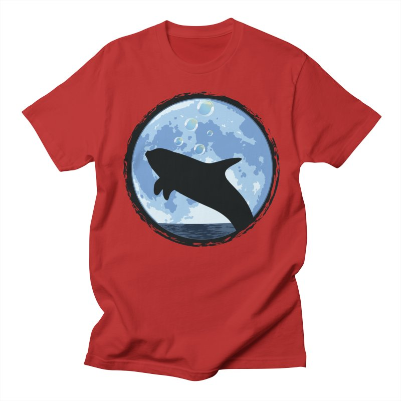 Dolphin Moon Women's Unisex T-Shirt by Kamonkey's Artist Shop