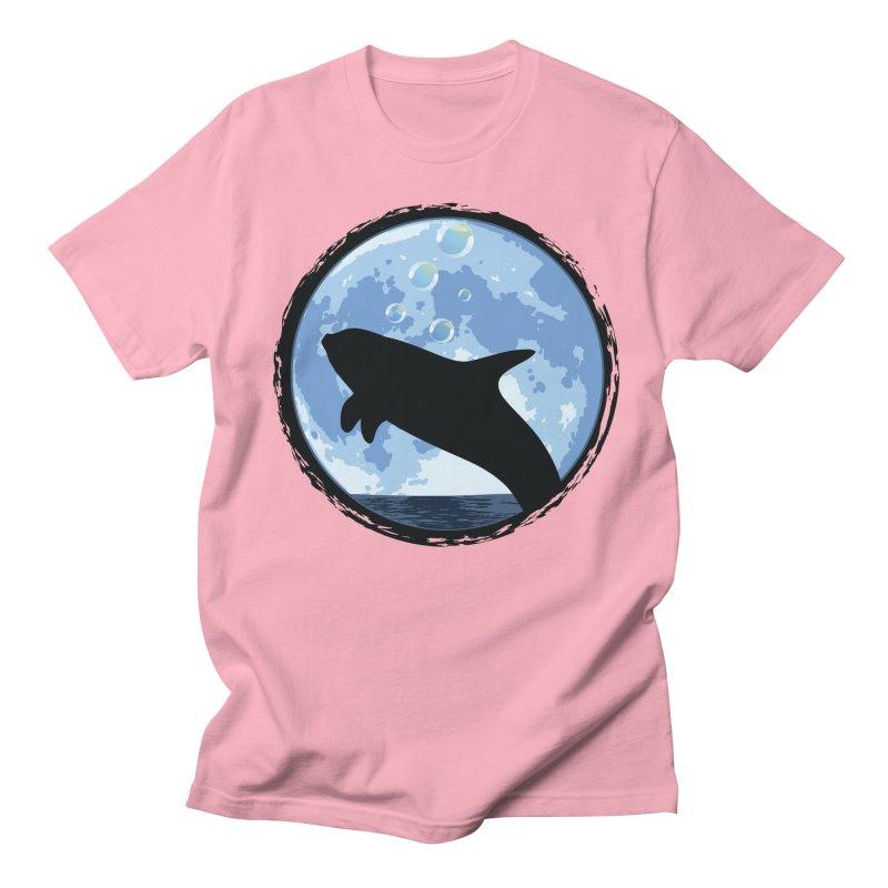 Dolphin Moon Women's Unisex T-Shirt by Kamonkey's Artist Shop