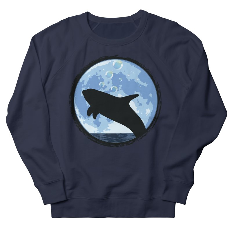 Dolphin Moon Women's Sweatshirt by Kamonkey's Artist Shop