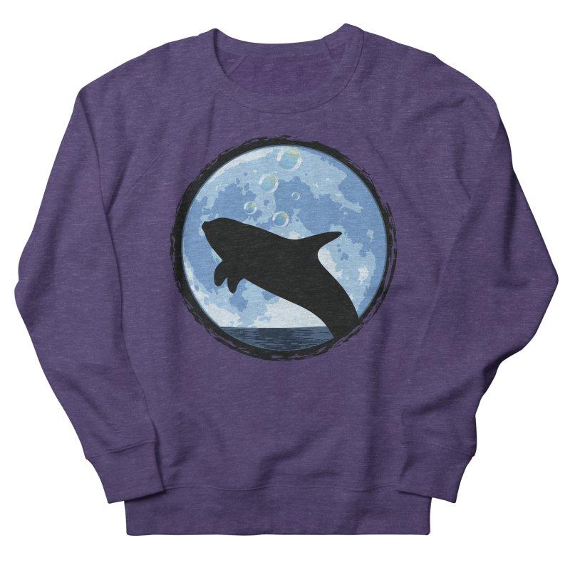 Dolphin Moon Men's Sweatshirt by Kamonkey's Artist Shop
