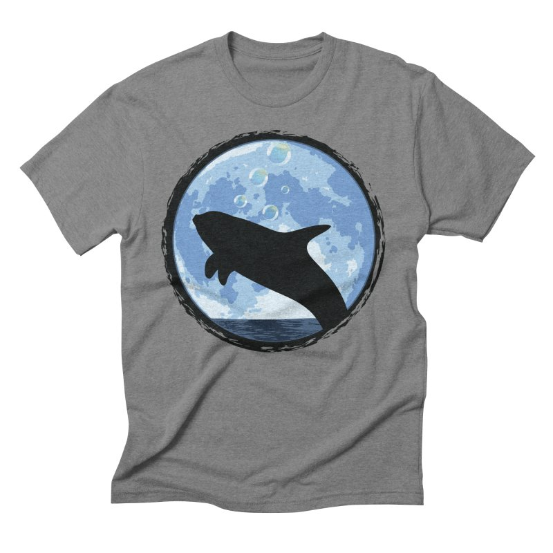 Dolphin Moon Men's Triblend T-Shirt by Kamonkey's Artist Shop