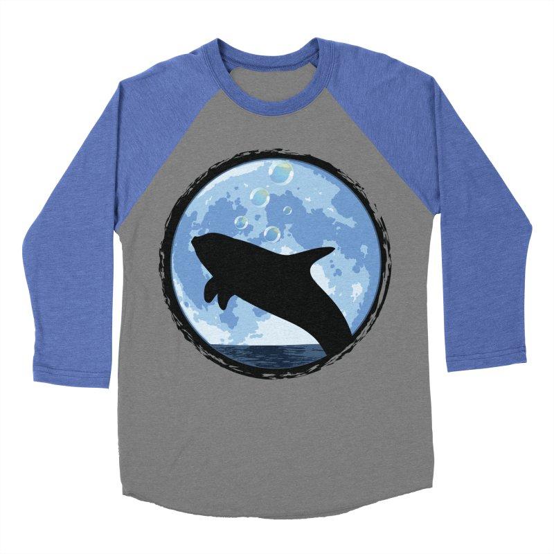 Dolphin Moon Women's Baseball Triblend T-Shirt by Kamonkey's Artist Shop