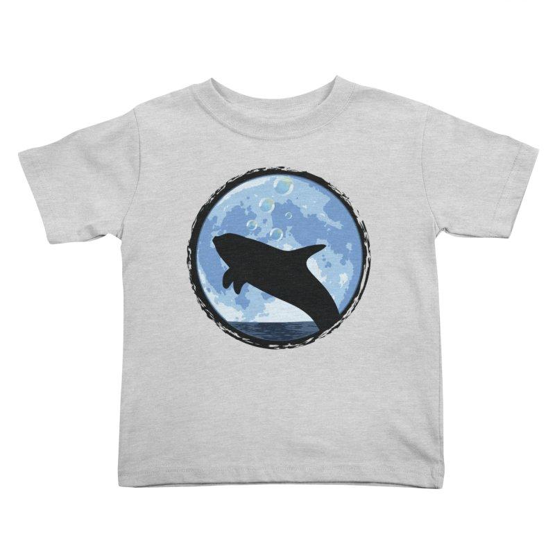 Dolphin Moon Kids Toddler T-Shirt by Kamonkey's Artist Shop