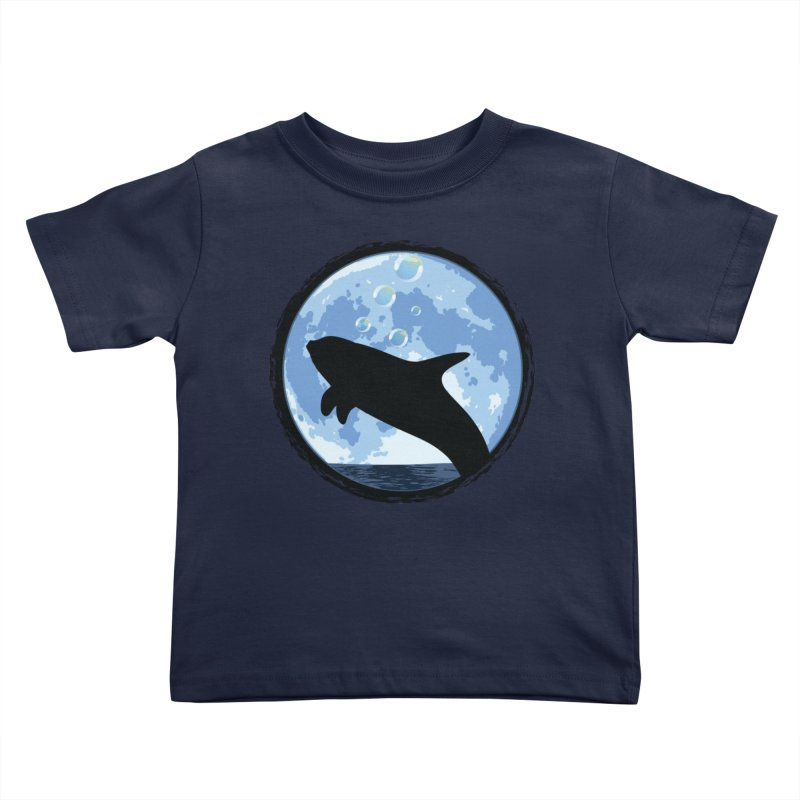 Dolphin Moon Kids Toddler T-Shirt by Kamonkey's Artist Shop