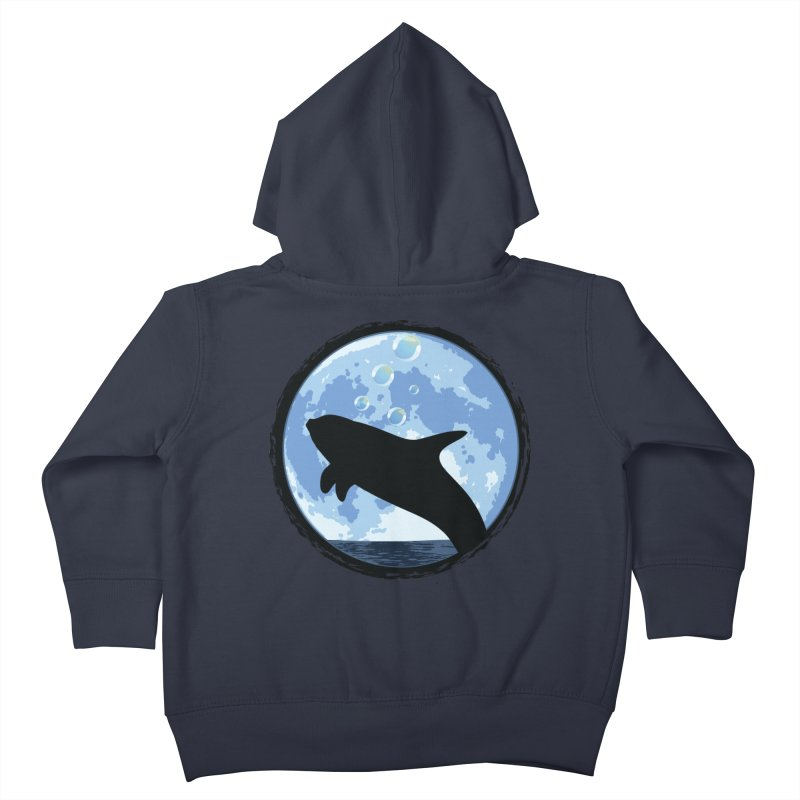 Dolphin Moon Kids Toddler Zip-Up Hoody by Kamonkey's Artist Shop