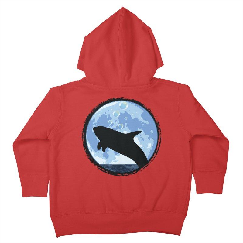 Dolphin Moon Kids Toddler Zip-Up Hoody by Kamonkey's Artist Shop