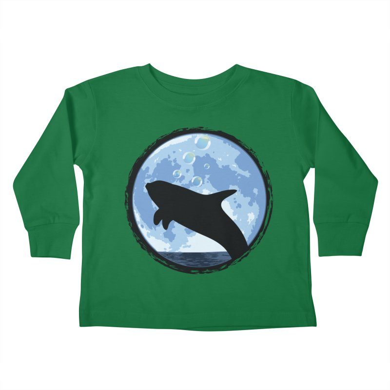 Dolphin Moon Kids Toddler Longsleeve T-Shirt by Kamonkey's Artist Shop
