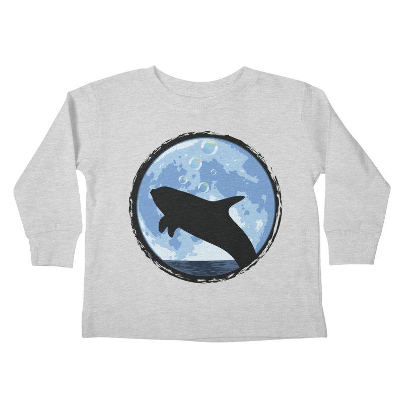 Dolphin Moon Kids Toddler Longsleeve T-Shirt by Kamonkey's Artist Shop