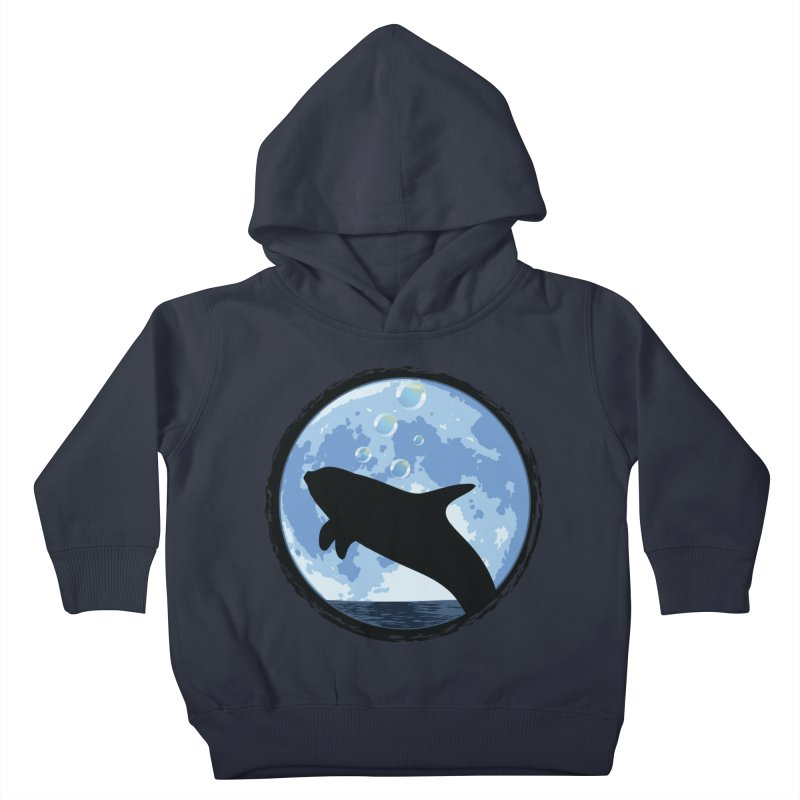 Dolphin Moon Kids Toddler Pullover Hoody by Kamonkey's Artist Shop