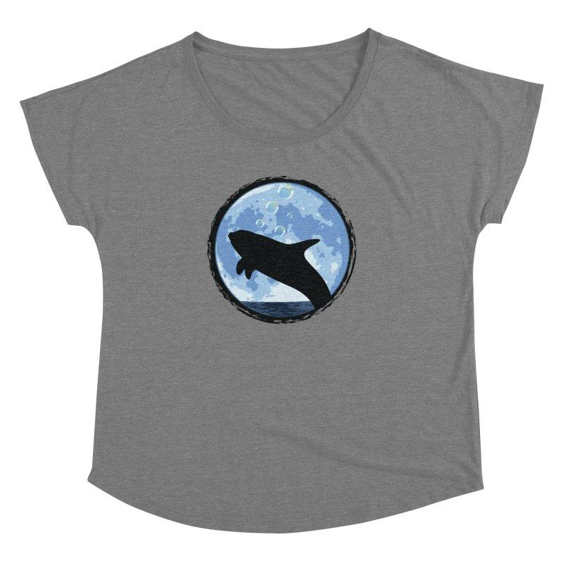 Dolphin Moon Women's Dolman by Kamonkey's Artist Shop