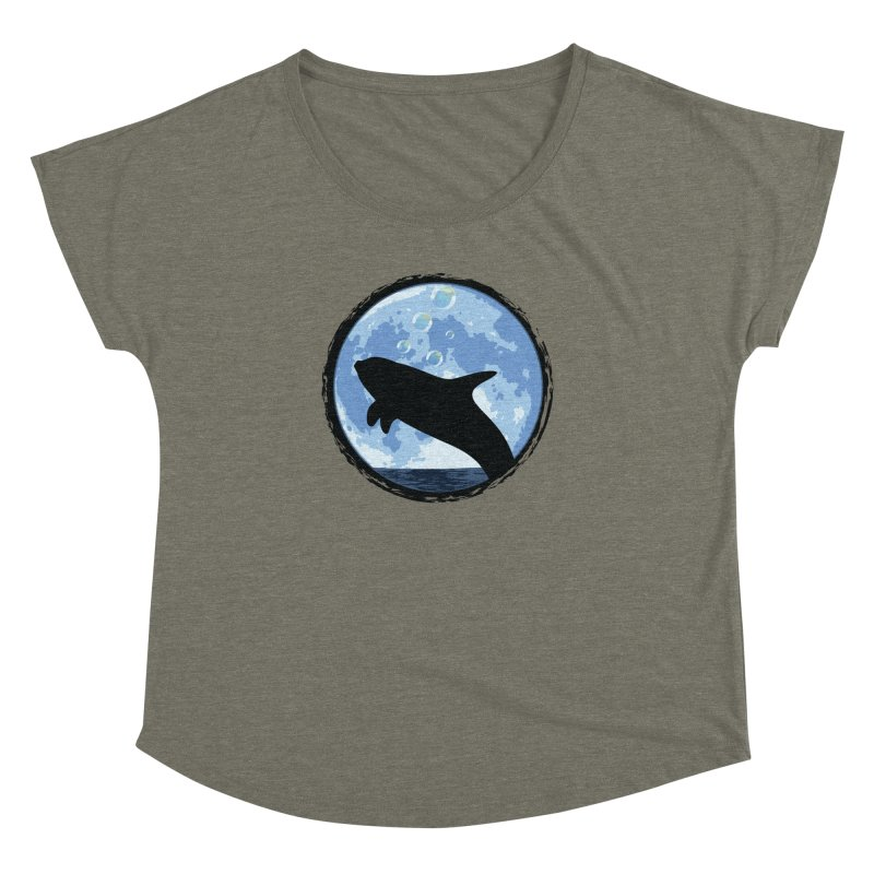 Dolphin Moon Women's Dolman by Kamonkey's Artist Shop
