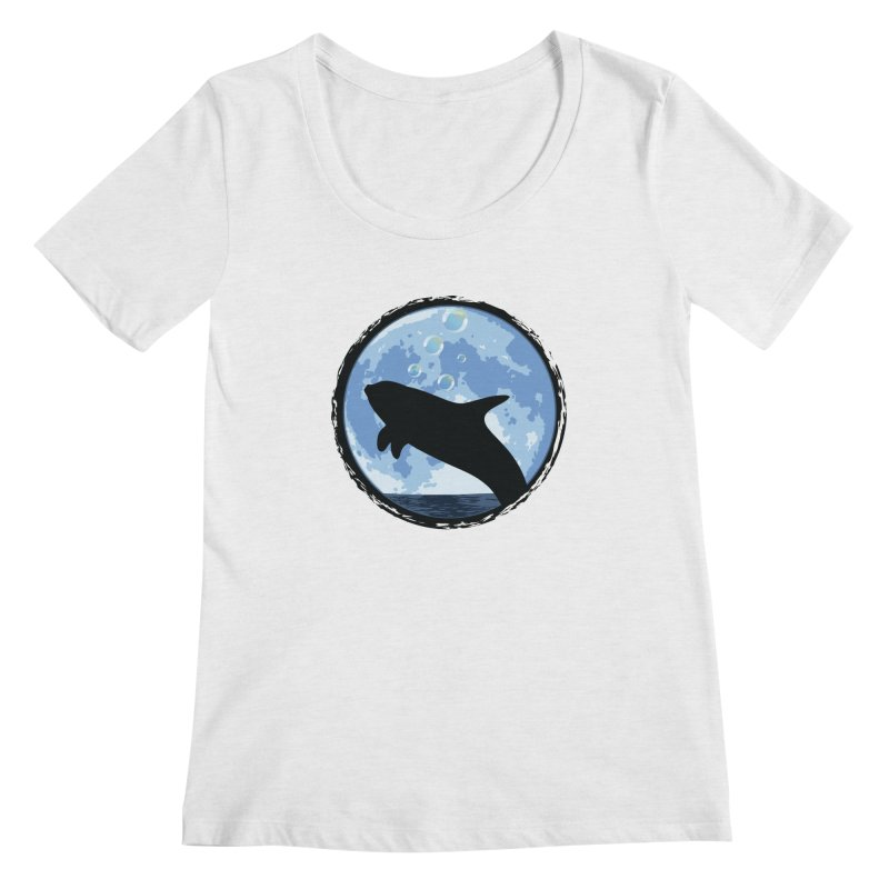 Dolphin Moon Women's Regular Scoop Neck by Kamonkey's Artist Shop