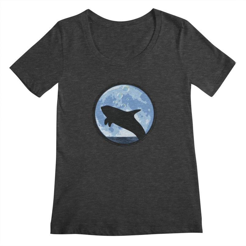 Dolphin Moon Women's Regular Scoop Neck by Kamonkey's Artist Shop