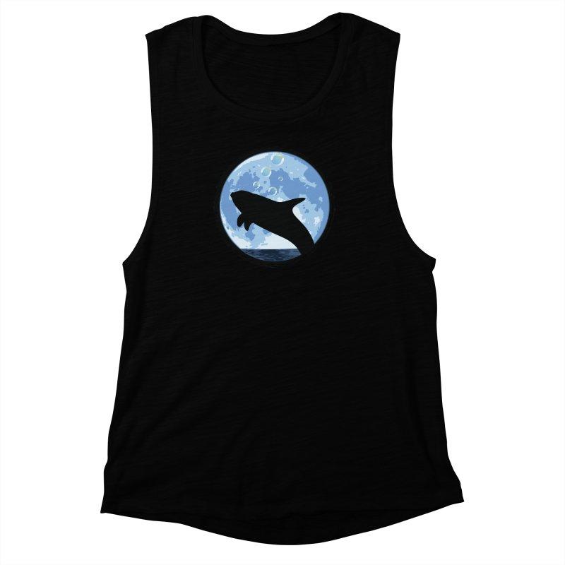 Dolphin Moon Women's Muscle Tank by Kamonkey's Artist Shop
