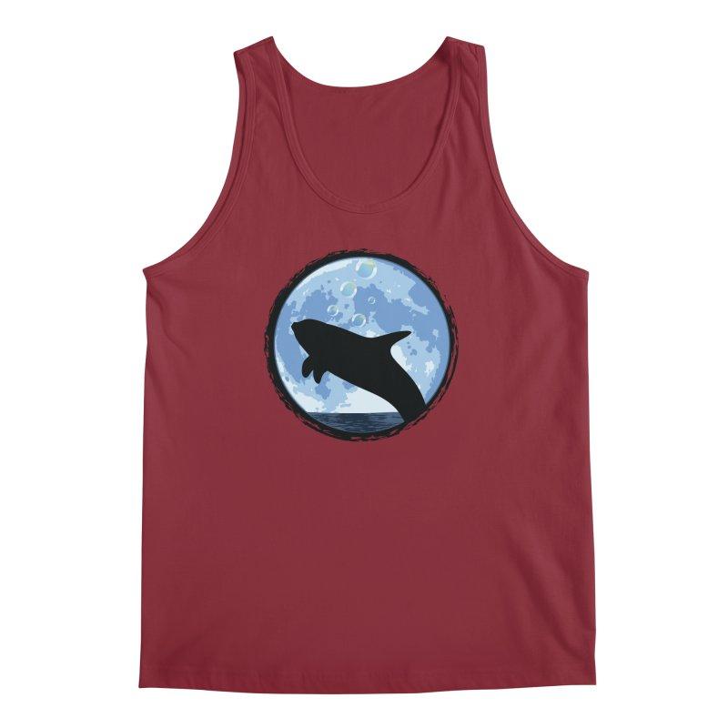 Dolphin Moon Men's Regular Tank by Kamonkey's Artist Shop