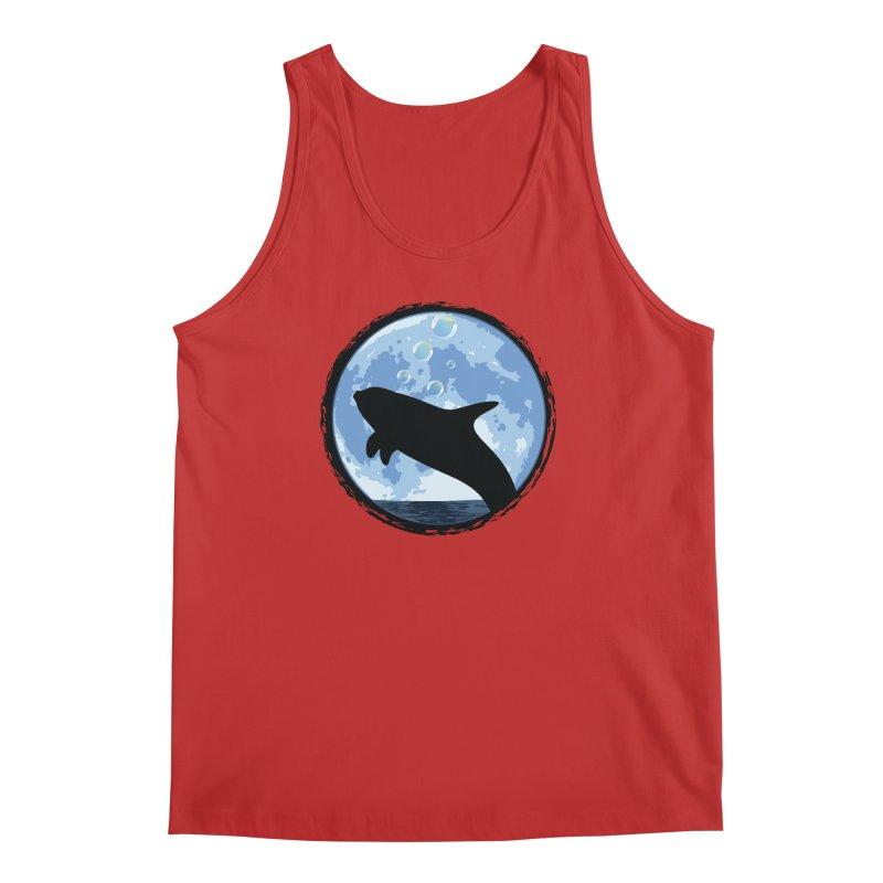 Dolphin Moon Men's Tank by Kamonkey's Artist Shop