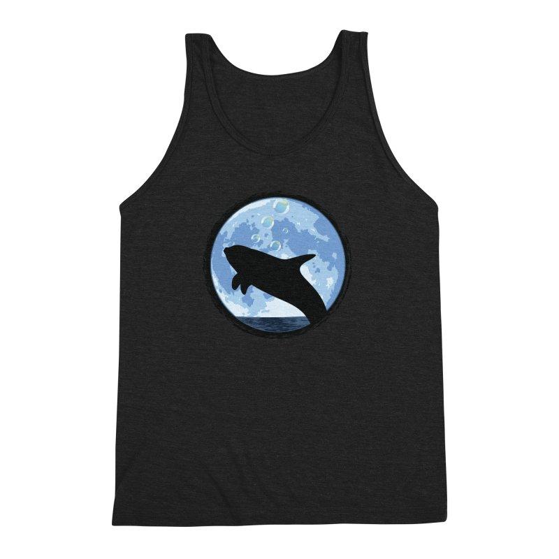 Dolphin Moon Men's Triblend Tank by Kamonkey's Artist Shop