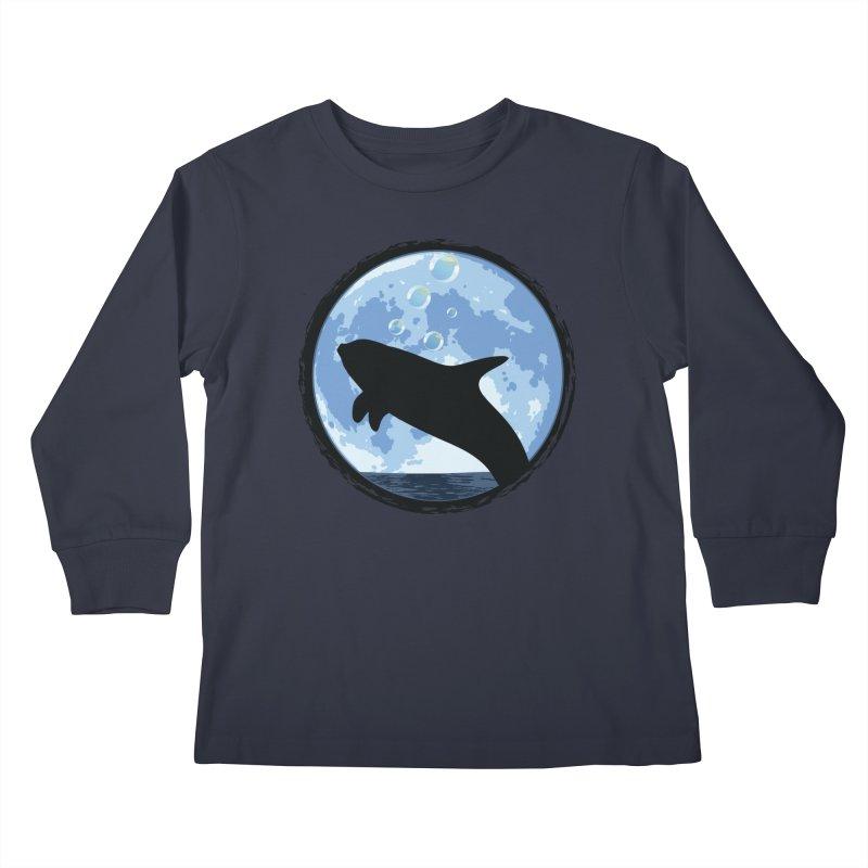Dolphin Moon Kids Longsleeve T-Shirt by Kamonkey's Artist Shop