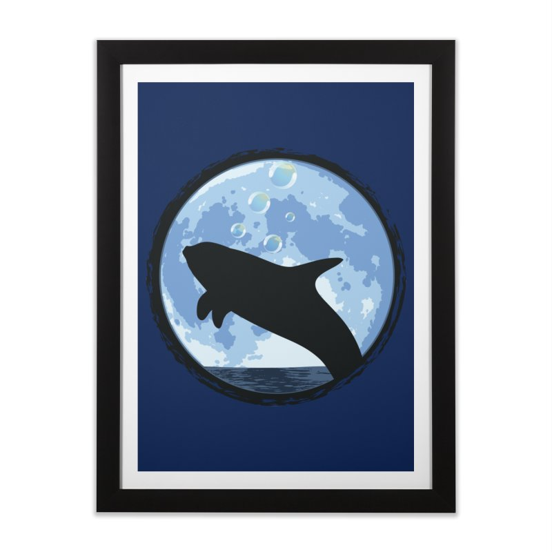 Dolphin Moon Home Framed Fine Art Print by Kamonkey's Artist Shop