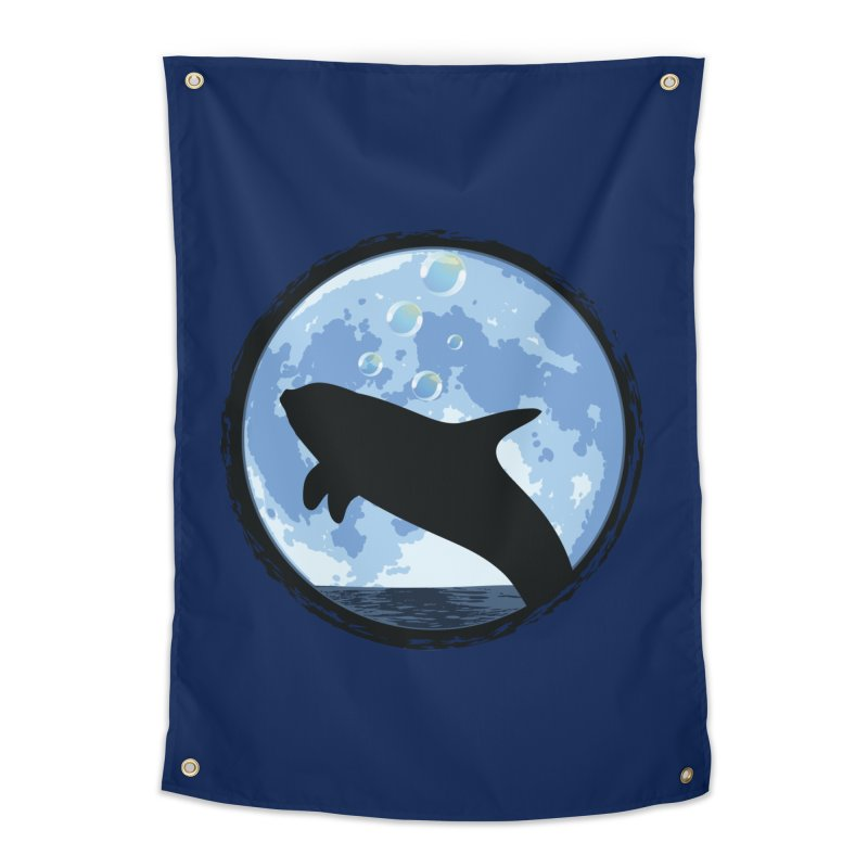 Dolphin Moon Home Tapestry by Kamonkey's Artist Shop