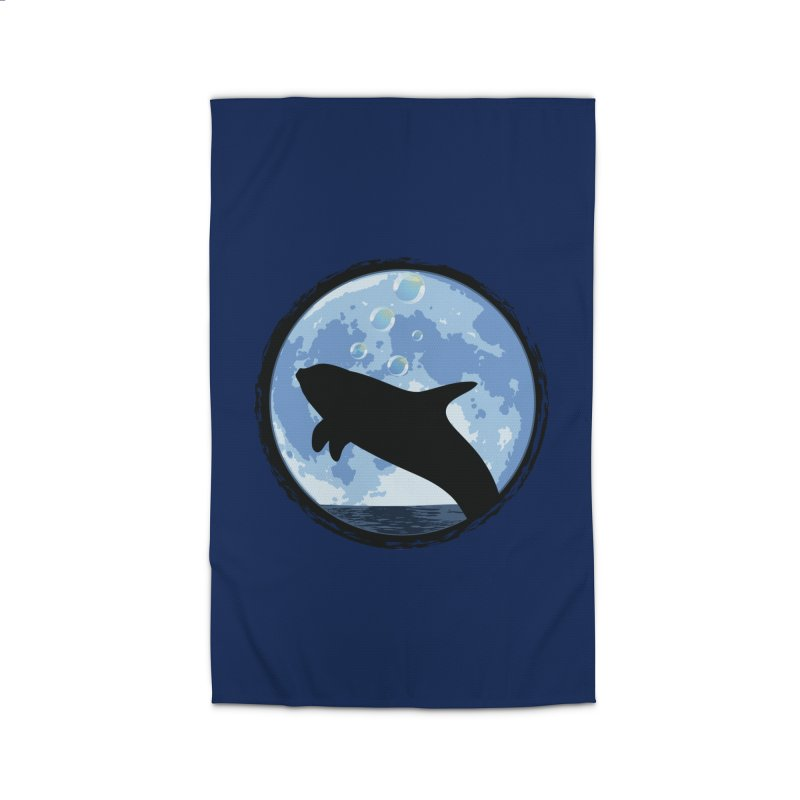 Dolphin Moon Home Rug by Kamonkey's Artist Shop