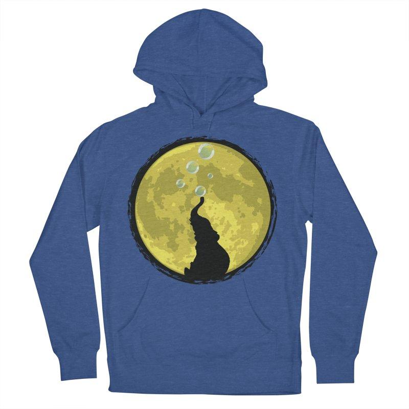 Elephant Moon Women's French Terry Pullover Hoody by Kamonkey's Artist Shop