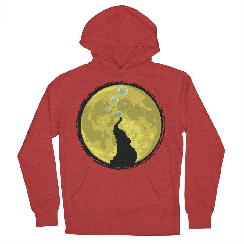 Elephant Moon Men's Pullover Hoody by Kamonkey's Artist Shop