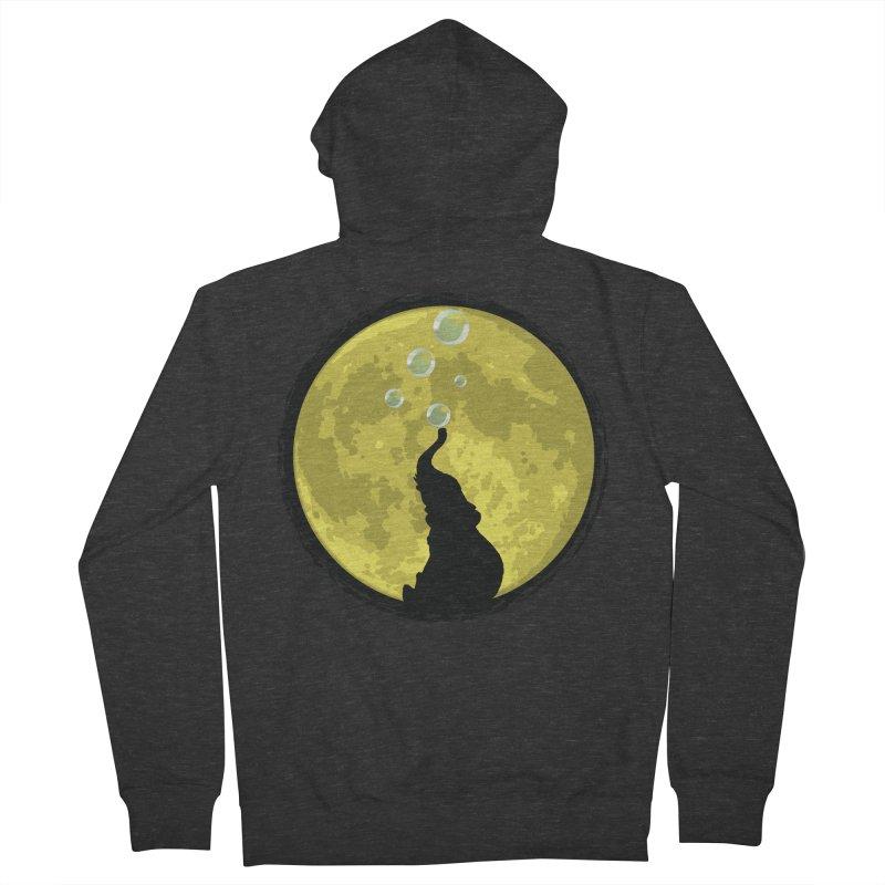 Elephant Moon Women's Zip-Up Hoody by Kamonkey's Artist Shop
