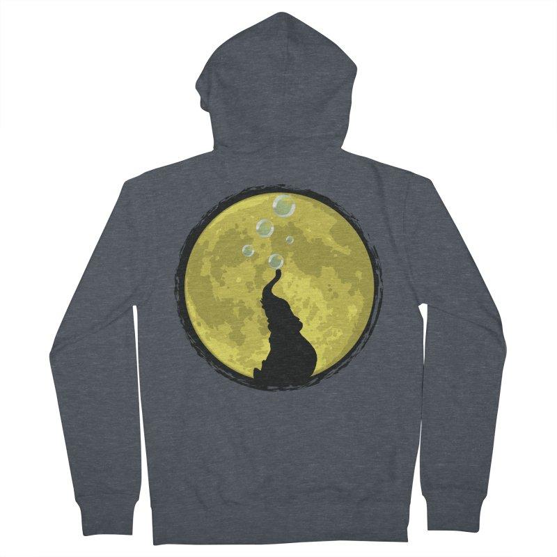 Elephant Moon Men's French Terry Zip-Up Hoody by Kamonkey's Artist Shop