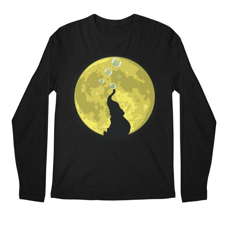 Elephant Moon Men's Regular Longsleeve T-Shirt by Kamonkey's Artist Shop