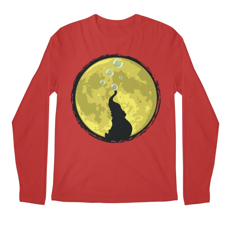 Elephant Moon Men's Regular Longsleeve T-Shirt by Kamonkey's Artist Shop