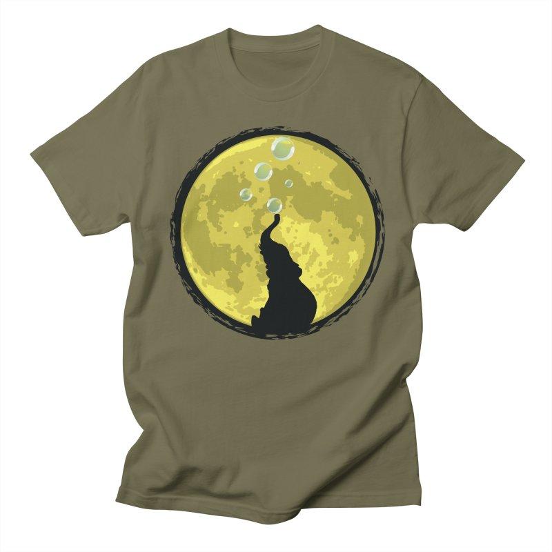 Elephant Moon Women's Regular Unisex T-Shirt by Kamonkey's Artist Shop