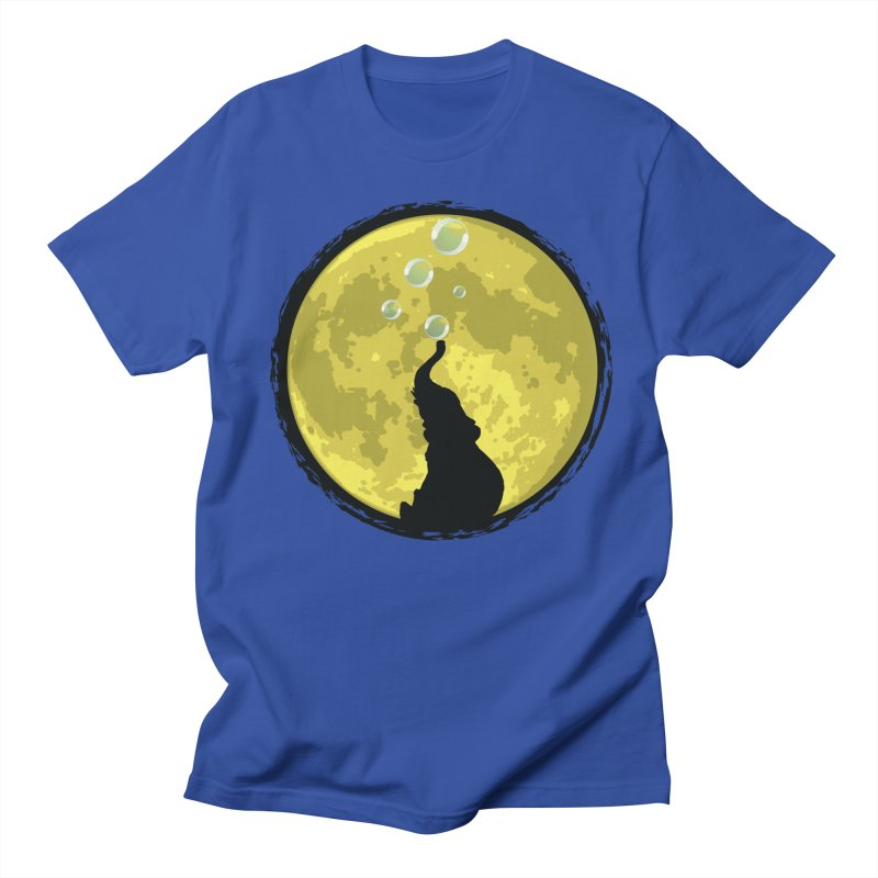 Elephant Moon Men's Regular T-Shirt by Kamonkey's Artist Shop