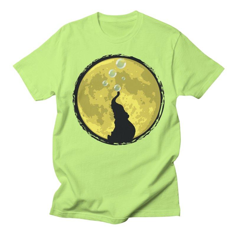 Elephant Moon Men's Regular T-Shirt by Kamonkey's Artist Shop