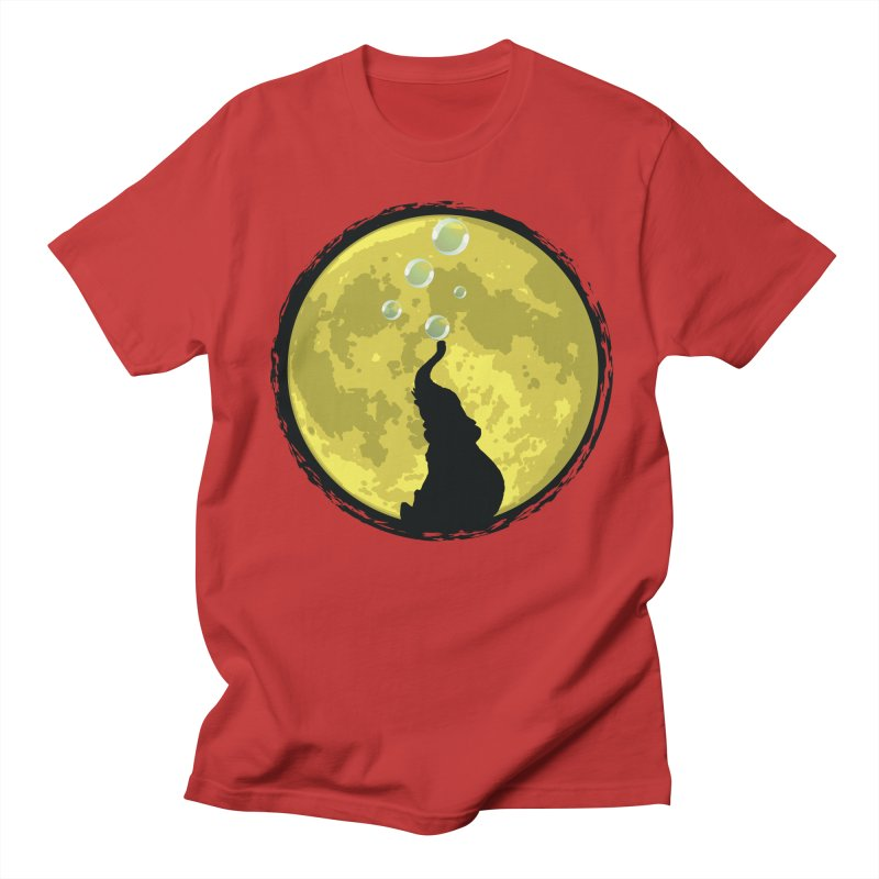 Elephant Moon Women's Regular Unisex T-Shirt by Kamonkey's Artist Shop