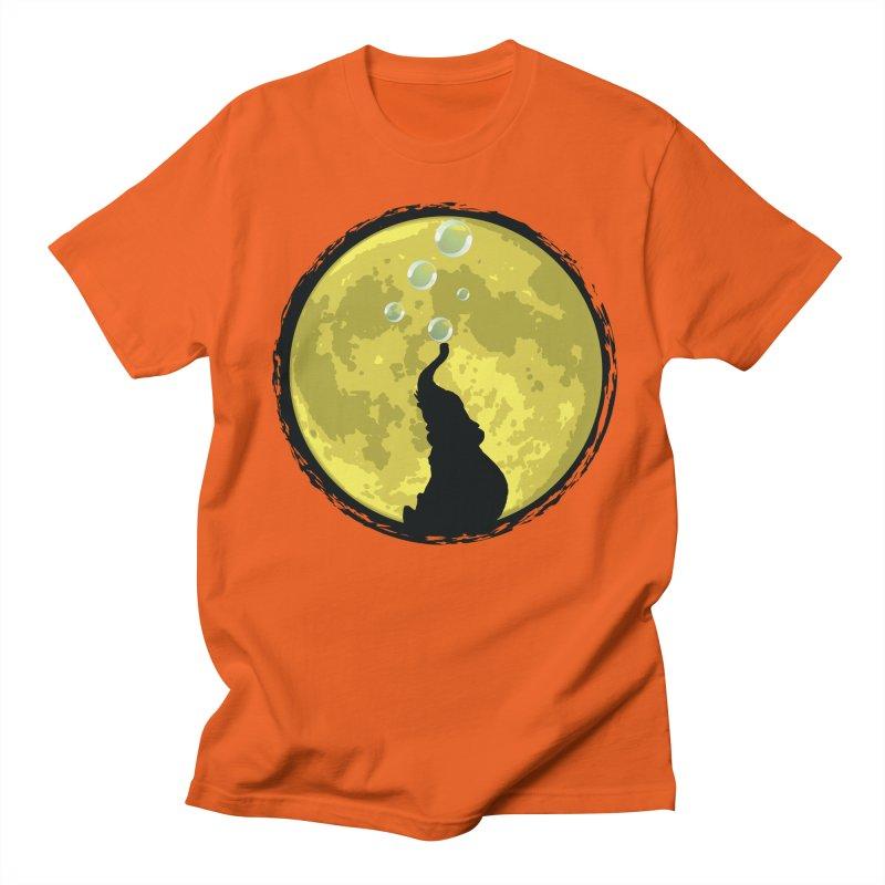 Elephant Moon Men's T-Shirt by Kamonkey's Artist Shop