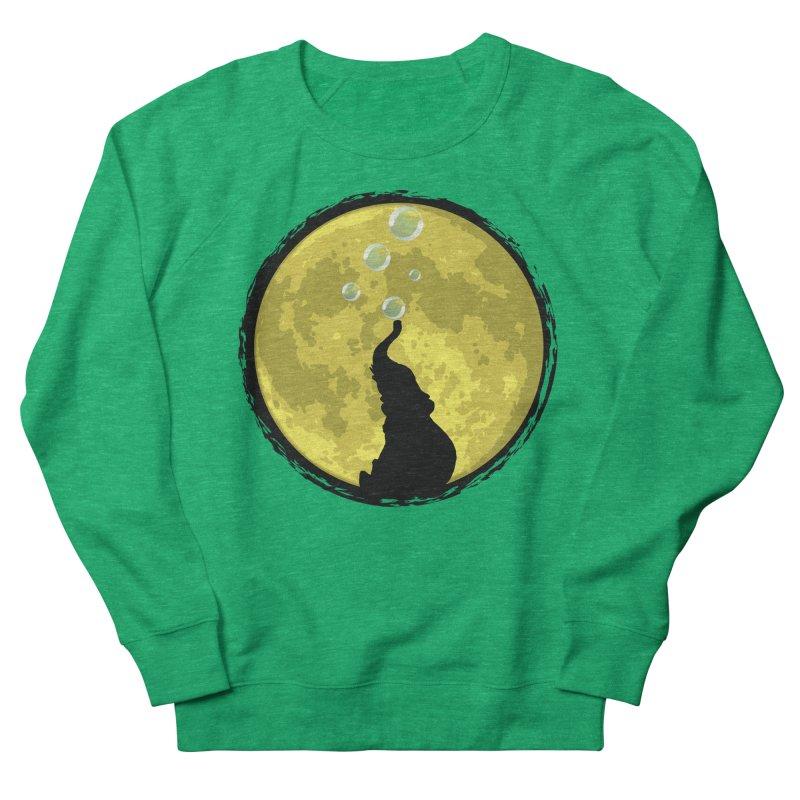 Elephant Moon Women's French Terry Sweatshirt by Kamonkey's Artist Shop