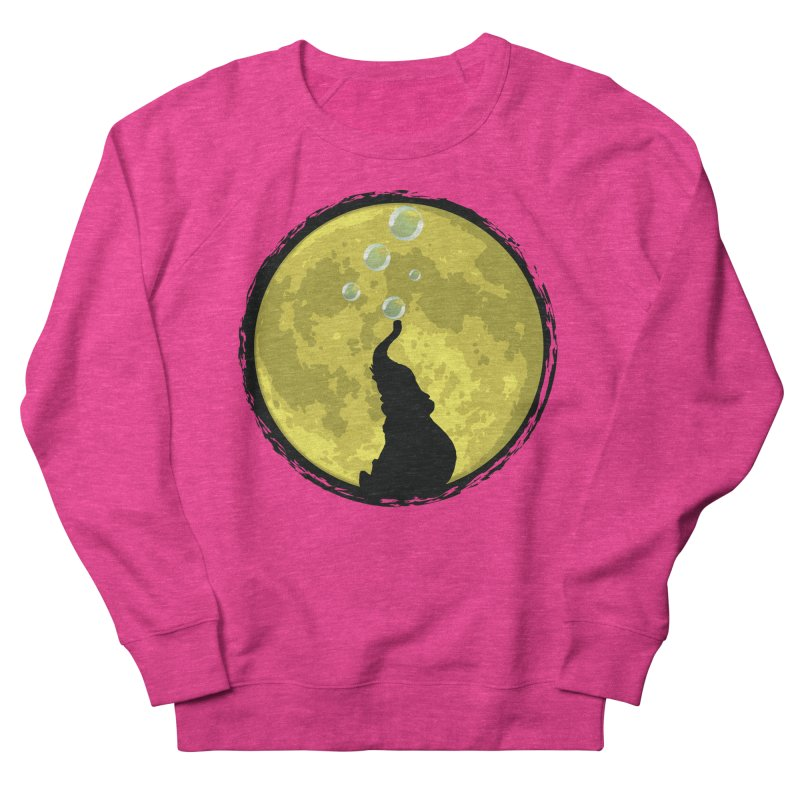 Elephant Moon Women's Sweatshirt by Kamonkey's Artist Shop