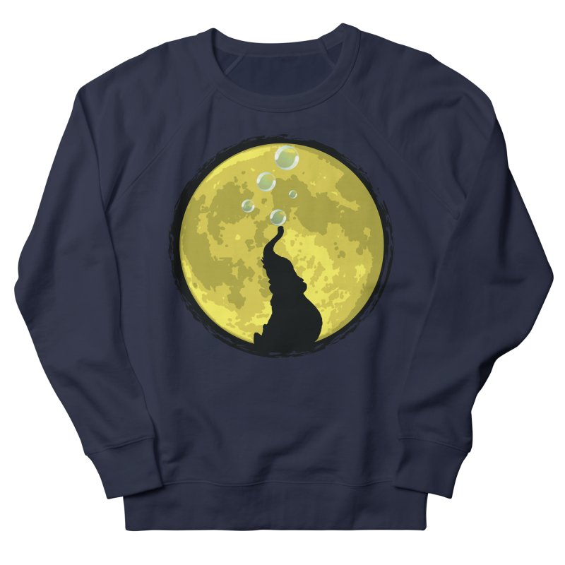Elephant Moon Women's French Terry Sweatshirt by Kamonkey's Artist Shop