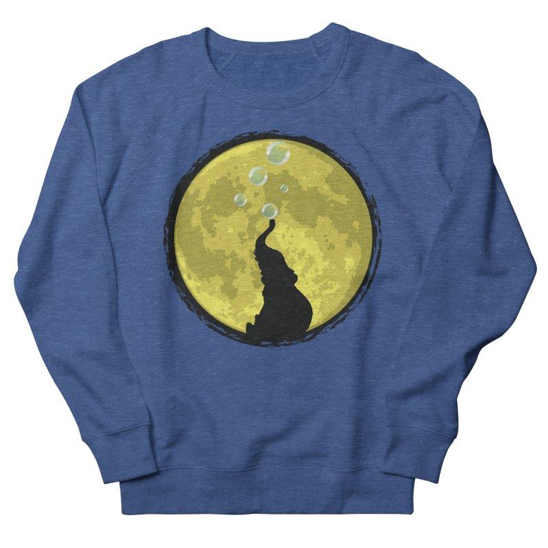 Elephant Moon Men's Sweatshirt by Kamonkey's Artist Shop