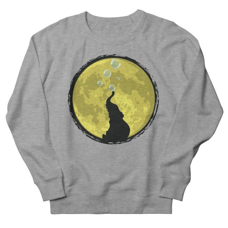 Elephant Moon Men's French Terry Sweatshirt by Kamonkey's Artist Shop
