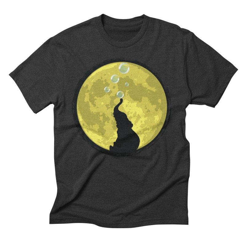 Elephant Moon Men's Triblend T-Shirt by Kamonkey's Artist Shop
