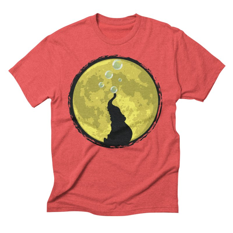 Elephant Moon Men's Triblend T-Shirt by Kamonkey's Artist Shop